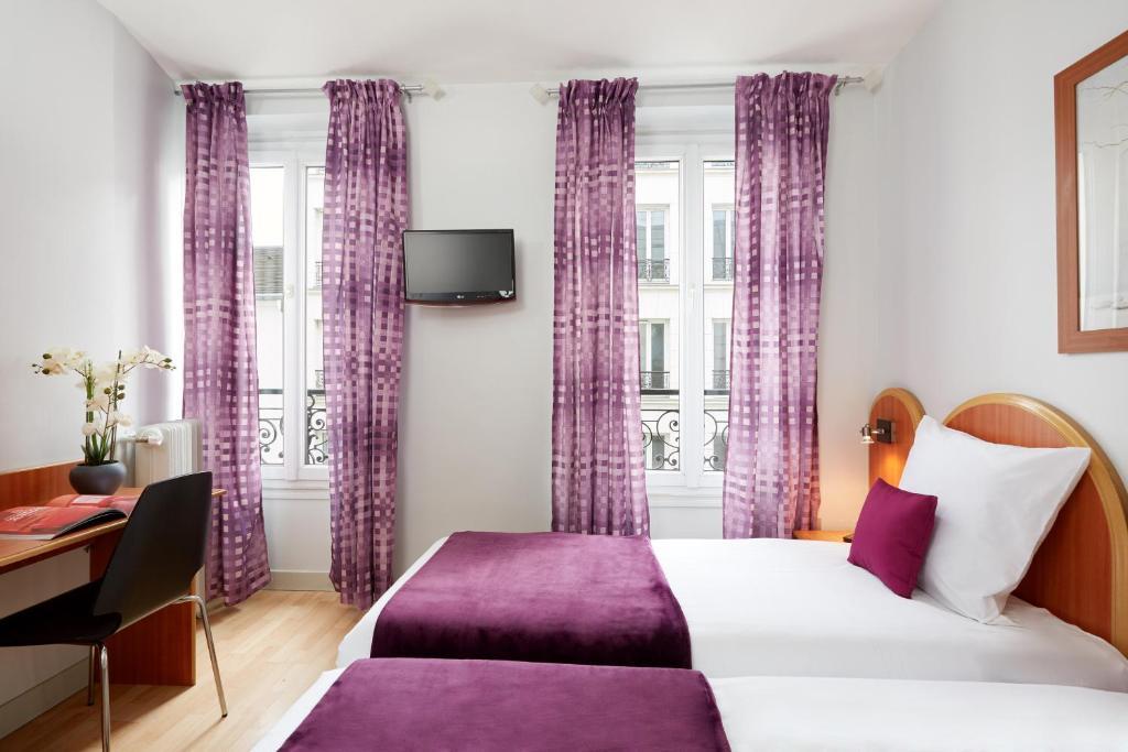 H tel viator paris online booking viamichelin for Seven hotel paris booking