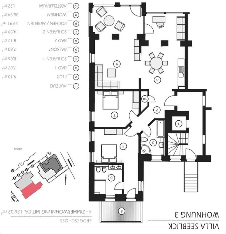 Wohnungen villa seeblick binz ferienh user binz for Villa seeblick binz