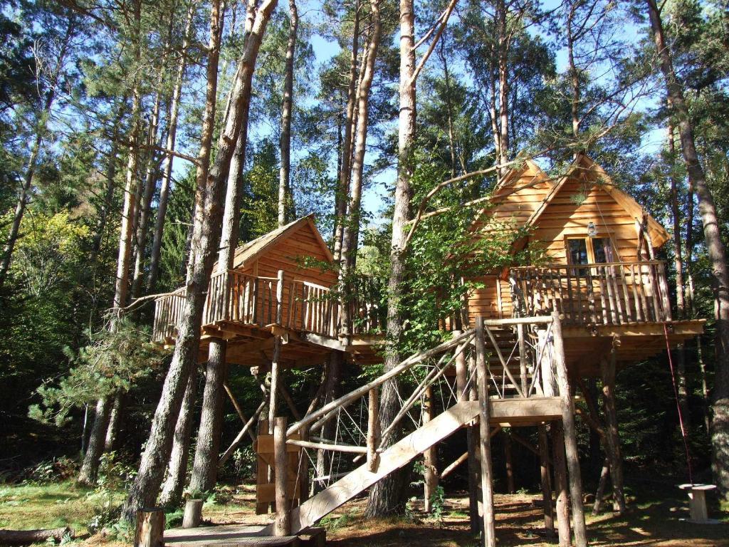 Cabanes dans les arbres nids des vosges chambres d 39 h tes champdray - Cabane jardin vosges nantes ...