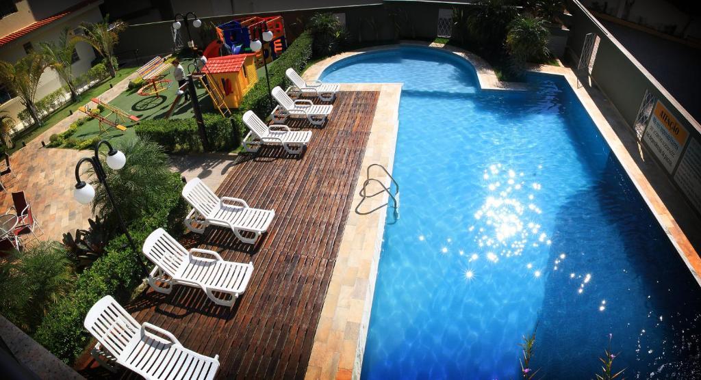 Uma vista da piscina em Hotel Santo Graal ou nos arredores