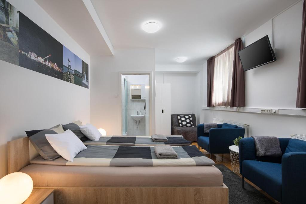 Hostel bureau zagreb reserva tu hotel con viamichelin for Hotel 9 luxury boutique zagreb