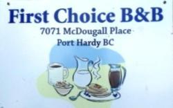 First Choice B&B, 7071 McDougal Place, V0N 2P0, Port Hardy