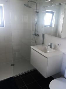 Phòng tắm tại Vissershuisjes Wenduine