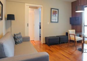 Uma área de estar em Flat no Brooklin 186