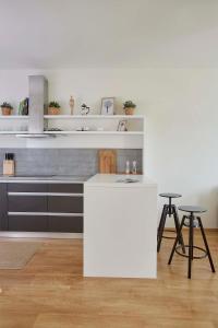 A cozinha ou cozinha compacta de Modern Apartment