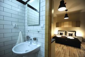 Um banheiro em Apartmány Kukučín