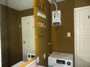 Nhà bếp/bếp nhỏ tại LOFT aconchegante e agradavel