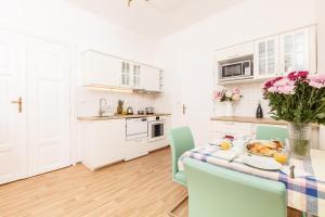 A cozinha ou cozinha compacta de Prague Siesta Apartments