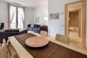 Khu vực ghế ngồi tại Habitat Apartments Alibei