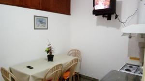 Una televisión o centro de entretenimiento en Isla de los Pajaros
