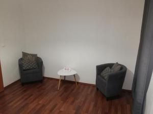 Uma área de estar em Křižíkova 65 Stay
