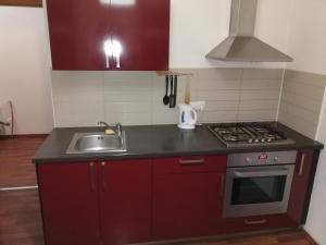A cozinha ou cozinha compacta de Křižíkova 65 Stay
