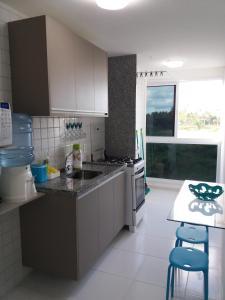 A cozinha ou cozinha compacta de Palm Village Porto de Galinhas