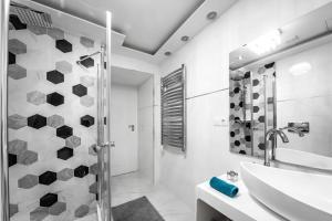 حمام في Király 28 Entire Aircon Center Apartment