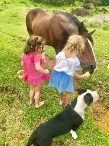 Crianças ficando em Fazenda Monte Verde A Morada do Muriqui
