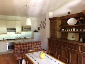 A cozinha ou cozinha compacta de Lo Stambecco