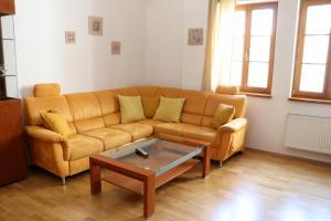 Uma área de estar em Big Apartment by Wenceslav Square