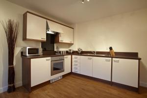 מטבח או מטבחון ב-Exchange Building Apartments by esa