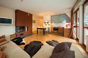 אזור ישיבה ב-Apartments Zakopane Center