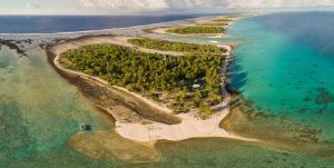 Uma vista aérea de Fafarua Ile Privée Private Island