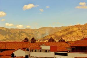 Uma vista da montanha tirada do apart-hotel