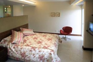 Cama ou camas em um quarto em Mirante Lodge