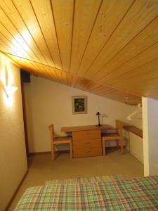 אזור ישיבה ב-Chalet Wättertanna
