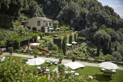 The gardens at the Hotel Villa San Michele, Fiesole, Florence