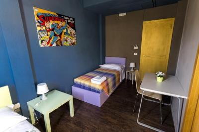 A room at the Wow Hostel, Florence
