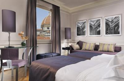 A room at the Hotel Brunelleschi, Florence