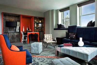 Hotel w new york union square new york city ny - The living room at the w union square ...