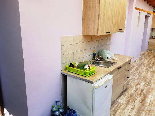 Una cocina o kitchenette en Studios Lefkada