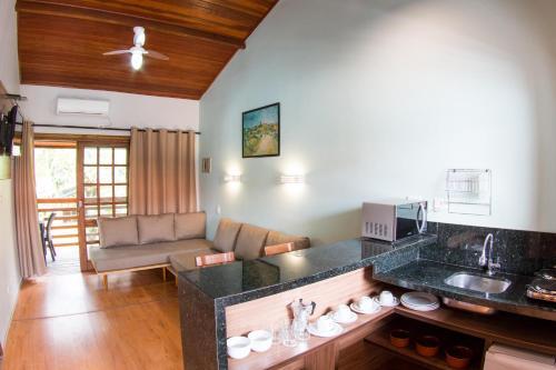 Uma área de estar em Flat Vila Morena