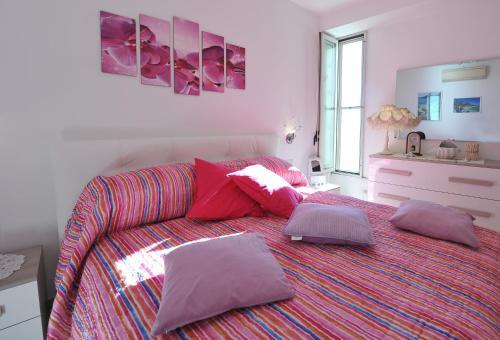 Una cama o camas en una habitación de Casa Carola