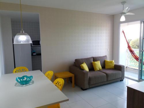 Uma área de estar em Palm Village Porto de Galinhas