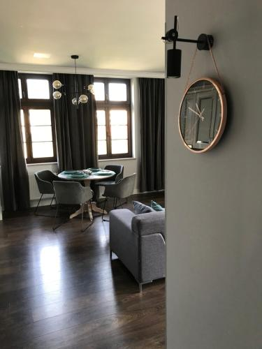 منطقة جلوس في Apartament Nad Jeziorem Dlugim