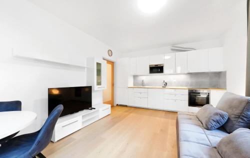 A cozinha ou cozinha compacta de Apartments Krakovska 13