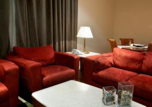 منطقة جلوس في أجنحة شام الفندقية