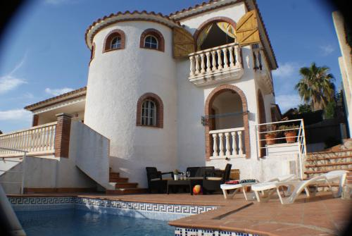 Ibiza Style Pool Villa in Sitges.