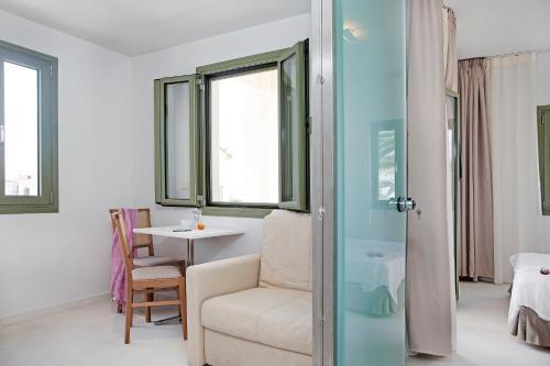 منطقة جلوس في Aphrodite Hotel & Suites