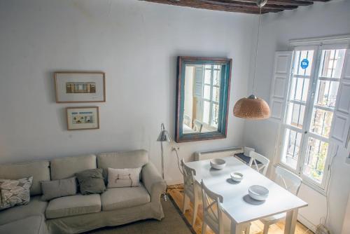 אזור ישיבה ב-Apartamento La Buena Guarda