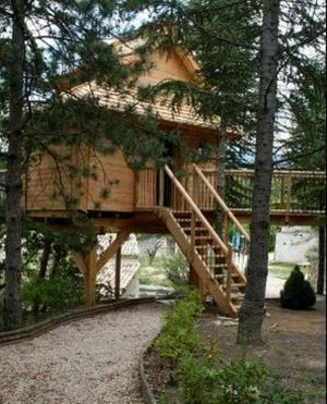 Tree House with Hot Tub