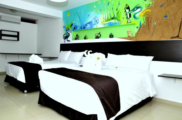 Junior Suite with Two Double Beds and Ocean View