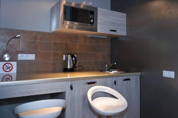 Top floor Modern Studio Street View Apartment with Shower on Khreschatyk 17