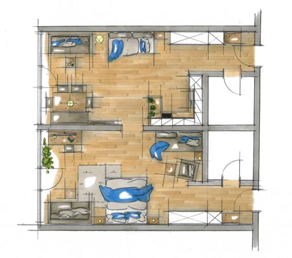 Large Superior One-Bedroom Apartment