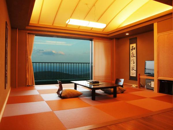 Modern Japanese-Style Room with Mountain view