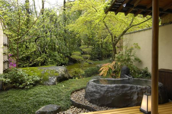 Japanese-Style Room with Open-Air Stone Bath