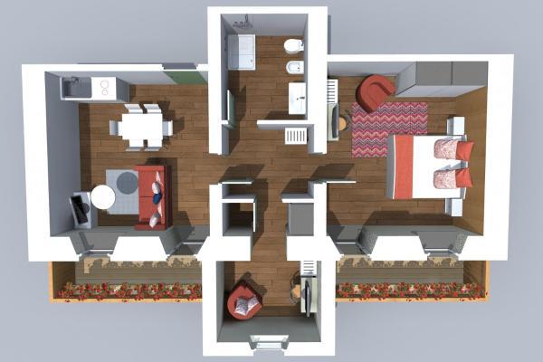 Premium Two-Bedroom Apartment with Balcony
