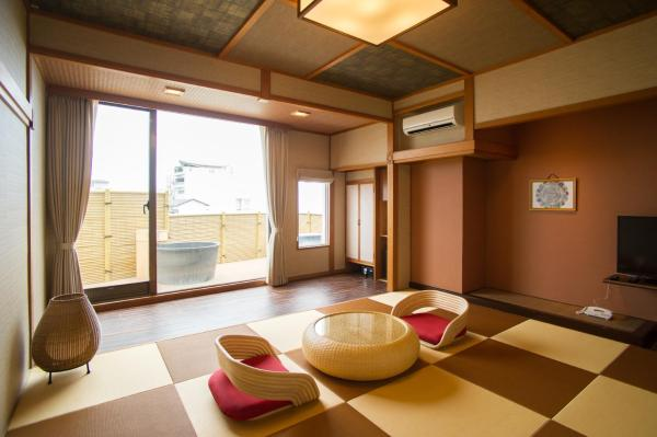 Japanese-Style Quadruple Room with Open-Air Bath