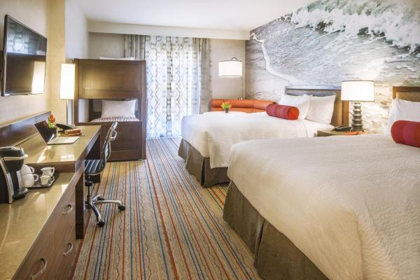 Two Queen Beds with Twin Bunk Bed - Partial Disney Resort View